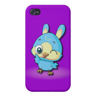 Cute Blue Bird Funny Cartoon Character i Case For iPhone 4