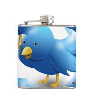 Cute Blue Birds Flask