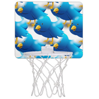 Cute Blue Birds Mini Basketball Hoop