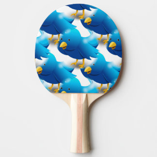 Cute Blue Birds Ping Pong Paddle