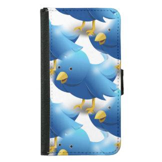 Cute Blue Birds Samsung Galaxy S5 Wallet Case