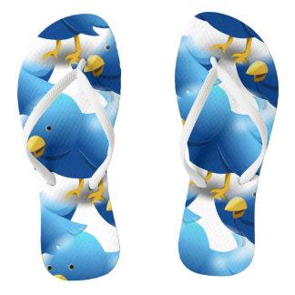 Cute Blue Birds Thongs