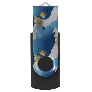 Cute Blue Birds USB Flash Drive