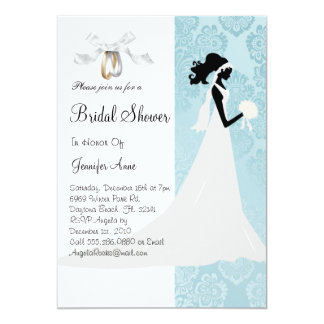 Cute Blue Bridal Shower Invite