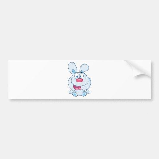 Cute Blue Bunny Cartoon Character Bumper Sticker