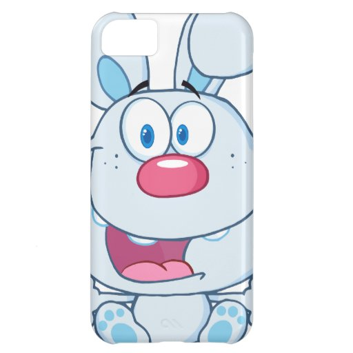 Cute Blue Bunny Cartoon Character Cover For iPhone 5C