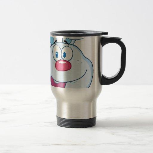 Cute Blue Bunny Cartoon Character Mugs
