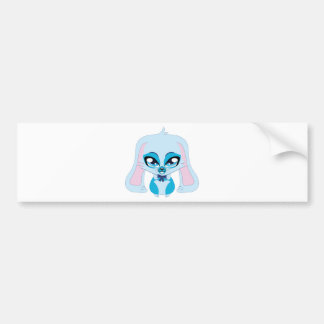 Cute blue bunny.png bumper sticker