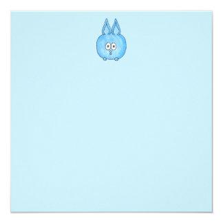 Cute Blue Bunny Rabbit. 13 Cm X 13 Cm Square Invitation Card