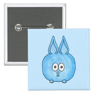 Cute Blue Bunny Rabbit. Button