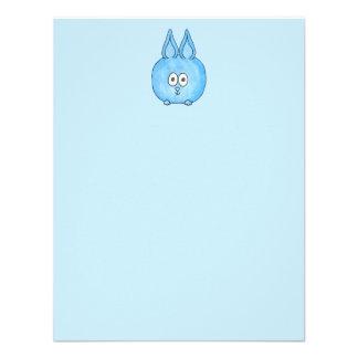 Cute Blue Bunny Rabbit. Personalized Announcements