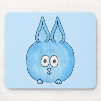 Cute Blue Bunny Rabbit Mousepads