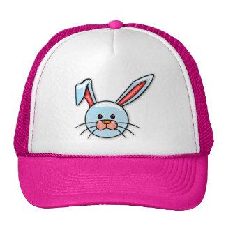 Cute Blue Cartoon Easter Bunny Trucker Hats