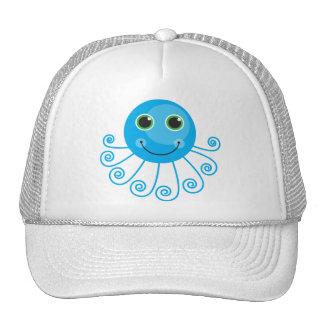 Cute Blue Cartoon Octopus Cap
