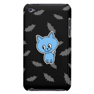 Cute Blue Cat and Bats. iPod Touch Case-Mate Case