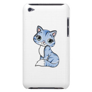 Cute blue cat cartoon barely there iPod cover