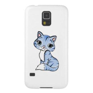 Cute blue cat cartoon case for galaxy s5