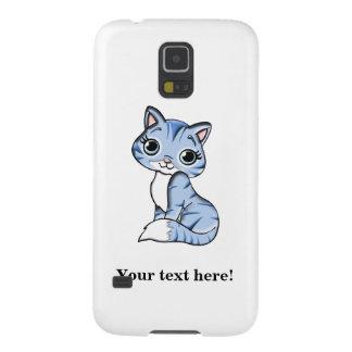 Cute blue cat cartoon galaxy s5 covers