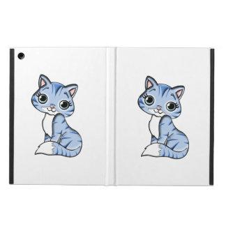 Cute blue cat cartoon iPad air case