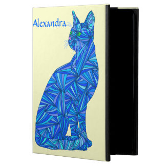 Cute Blue Cat Personalize This Whimsical iPad Air Case For iPad Air