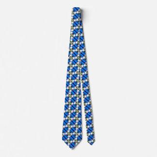 Cute Blue Cyclops Monster and Bird pattern tie
