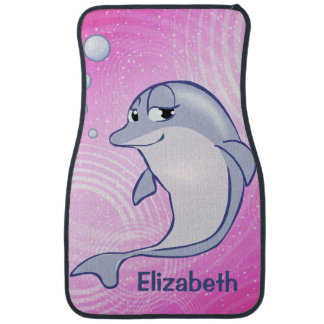 Cute Blue Dolphin To Personalize Car Mat