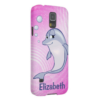 Cute Blue Dolphin To Personalize Case For Galaxy S5