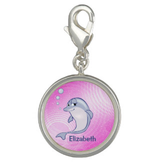Cute Blue Dolphin To Personalize Charm