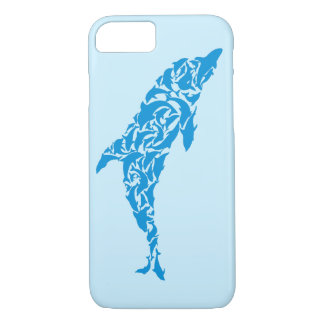 Cute blue dolphins forming a cute dolphin shape, iPhone 7 case