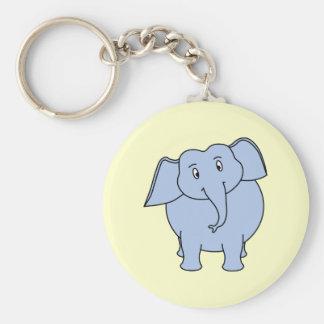 Cute Blue Elephant Cartoon Key Chains
