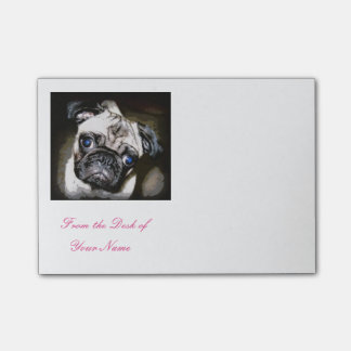 cute blue-eyed pug post-it® notes