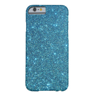Cute Blue Glitter Sparkles Barely There iPhone 6 Case