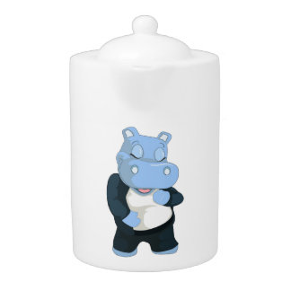 CUTE BLUE HIPPO