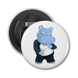 CUTE BLUE HIPPO BOTTLE OPENER