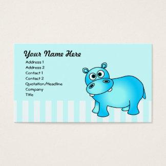 Cute Blue Hippo Business Card