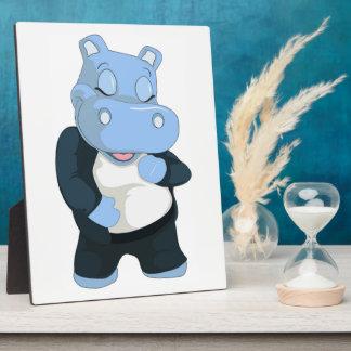 CUTE BLUE HIPPO PLAQUE