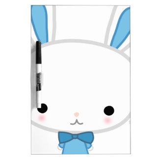 Cute Blue Kawaii Bunny Dry Erase Board