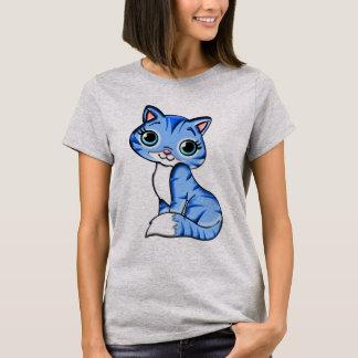 Cute Blue Kitty Cat T-Shirt