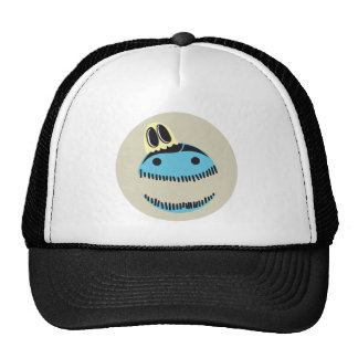 CUTE BLUE MONSTER FACE WITH HIS GHOST FRIEND HAT
