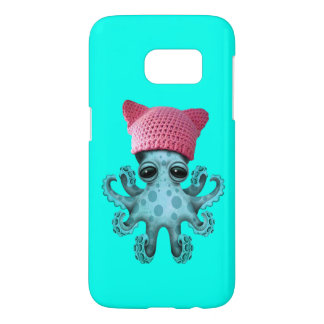 Cute Blue Octopus Wearing Pussy Hat