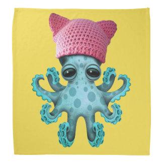 Cute Blue Octopus Wearing Pussy Hat Bandana