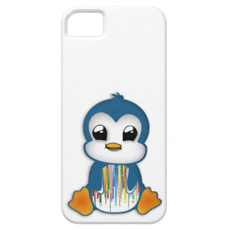 Cute blue orange penguin iPhone 5 case