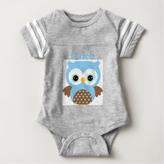 Cute Blue Owl Baby Bodysuit