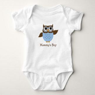Cute Blue Owl Baby Boy Bodysuit