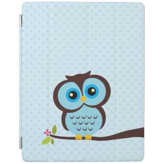 Cute Blue Owl iPad Cover