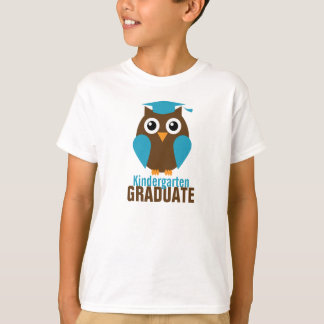 Cute Blue Owl Kindergarten Graduate T-Shirt