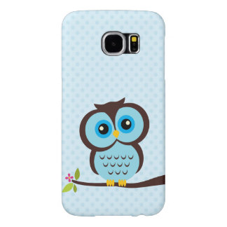 Cute Blue Owl Samsung Galaxy S6 Cases