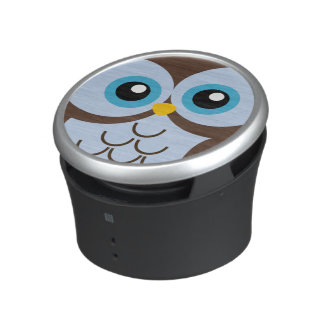Cute Blue Owl Speaker