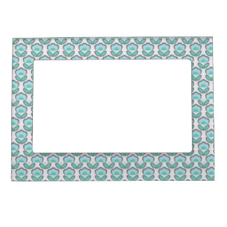 Cute Blue pattern Magnetic Frame