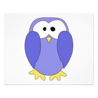 Cute Blue Penguin. Penguin Cartoon. 11.5 Cm X 14 Cm Flyer